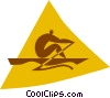 Vector Clip Art graphic  of a rowing