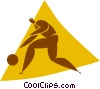 basketball player Vector Clipart image