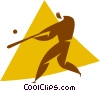 Vector Clipart picture  of a baseball player