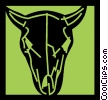 Vector Clip Art image  of a Bulls