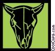 Vector Clipart illustration  of a Bulls