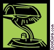 Vector Clip Art graphic  of a Desk Lamps