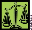 Vector Clip Art image  of a Scales of Justice