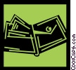 Vector Clip Art graphic  of a Wallets