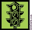 Vector Clip Art graphic  of a Traffic Signals
