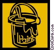 Vector Clip Art picture  of a Paint Cans