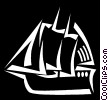 Vector Clipart graphic  of a Tall ship