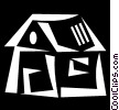 Vector Clipart graphic  of a Rural Housing