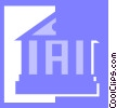 Vector Clipart image  of a bank/financial institution