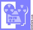 Vector Clip Art graphic  of a tape recorder