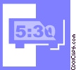 Vector Clip Art picture  of a digital alarm clock