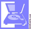 record player Vector Clipart image