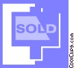 sold signs Vector Clip Art image