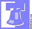 Vector Clip Art picture  of a Liberty Bell