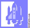 Vector Clipart graphic  of a space shuttle