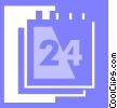 Vector Clipart image  of a calendar