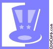 Uncle Sam's hat Vector Clipart illustration