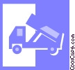 dump truck Vector Clip Art graphic