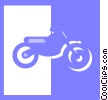 dirt bike Vector Clip Art picture