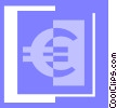 Vector Clipart picture  of a euro symbol