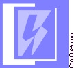 lightning symbol Vector Clipart picture