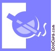 Vector Clipart picture  of a smoking