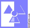 Vector Clipart graphic  of a radiation symbol