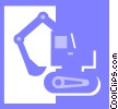 Vector Clipart illustration  of a steam shovel