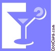 Vector Clipart picture  of a cocktails