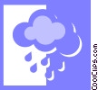 clouds with rain Vector Clip Art graphic