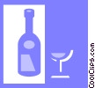 wine bottles Vector Clipart illustration