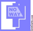 Vector Clipart picture  of a street sign