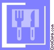 Vector Clipart image  of a eating utensils