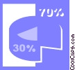 Vector Clip Art graphic  of a pie chart