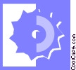 Vector Clipart picture  of a saw blade