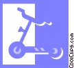 Vector Clipart illustration  of a scooter