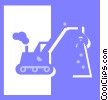Vector Clip Art picture  of a heavy machinery