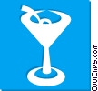 Vector Clip Art graphic  of a martini