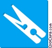 Vector Clipart illustration  of a clothes pin