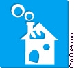 single family homes Vector Clipart graphic