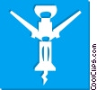 Vector Clipart picture  of a corkscrew