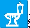 Vector Clipart graphic  of a toilet bowl