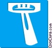 Vector Clip Art image  of a safety razors