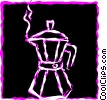 Vector Clip Art picture  of a Coffee Pots and Coffee Makers