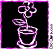 Vector Clip Art graphic  of a Flower Pots