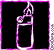 Vector Clipart graphic  of a Lighters
