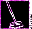 Vector Clip Art picture  of a Brooms