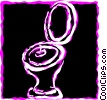 Vector Clipart image  of a Toilets