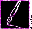 Fountain Pens Vector Clip Art graphic