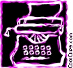 Vector Clip Art graphic  of a Typewriters
